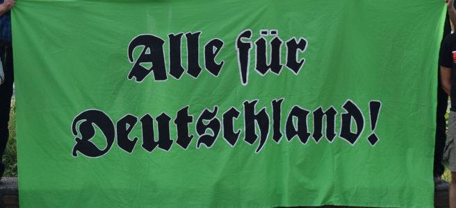 """Bild von """"Alle für Deutschland"""" Transparent"""